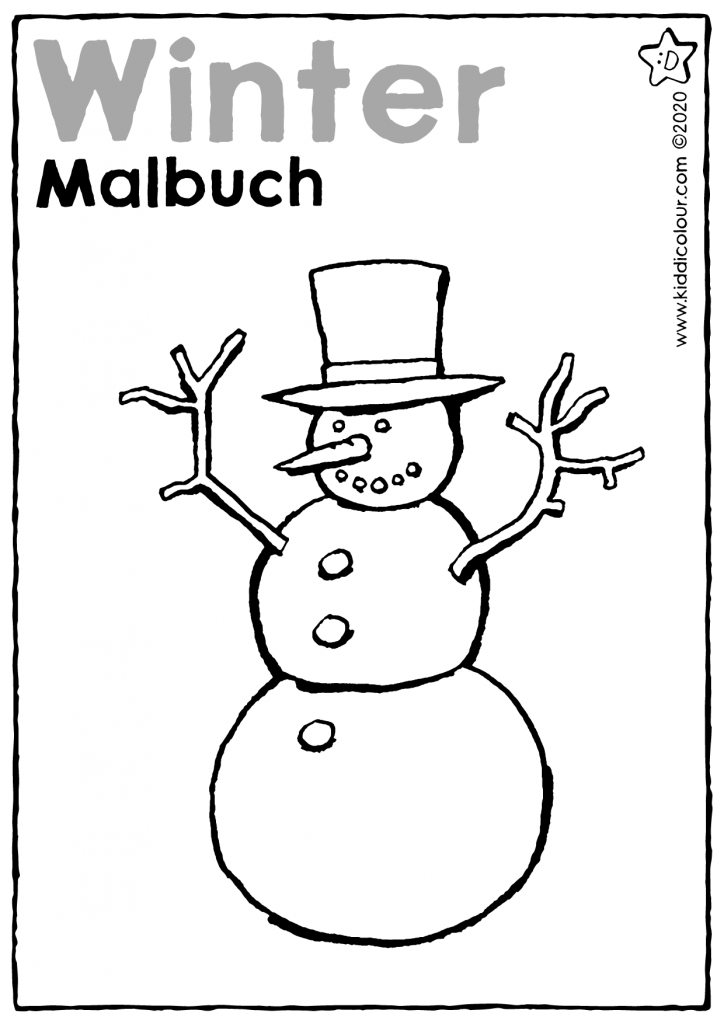 Malbuch Winter